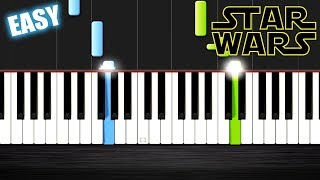 Star Wars - Main Theme - EASY Piano Tutorial  Ноты и М�Д� (MIDI) можем выслать Вам (Sheet music for