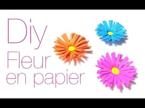 DIY Comment faire une fleur avec du papier