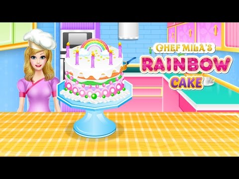 Lovely Rainbow Cake Cooking