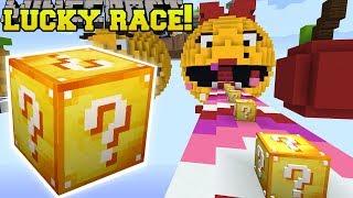 Minecraft: MS. PACMAN LUCKY BLOCK RACE - Lucky Block Mod - Modded Mini-Game