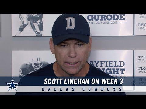 Offensive Coordinator Scott Linehan on Week 3 in the NFL | Dallas Cowboys 2018