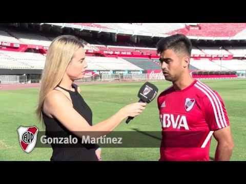 Gonzalo Martínez, en la previa de River vs. Belgrano