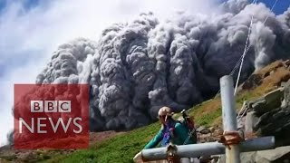 Nonton Video  Japan Volcano Shoots Rock   Ash On Mount Ontake   Bbc News Film Subtitle Indonesia Streaming Movie Download
