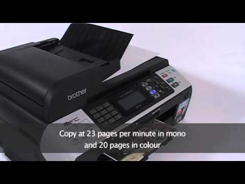 Brother MFC 5890CN Network Ready A3 Colour Inkjet Multifunction Printer with Fax