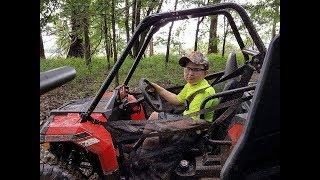 9. POLARIS ACE MUDDING ON SOME TRAILS Polaris Ace 150. See MY CHANNEL for more details on Ace 150