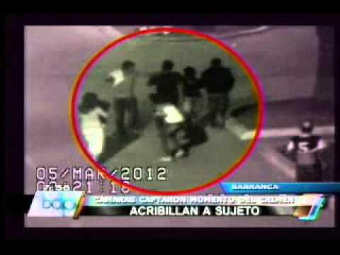 Cámaras de seguridad captan asesinato de joven en Barranca