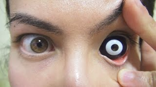 Video How to: Insert And Remove 24.0 mm Night Life Sclera Contact Lenses (Fxeyes) MP3, 3GP, MP4, WEBM, AVI, FLV Januari 2018