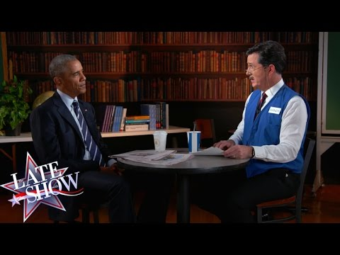 Stephen Colbert Helps President Obama Polish Up His