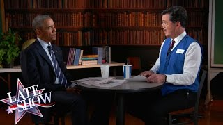 Download Youtube: Stephen Helps President Obama Polish His Résumé