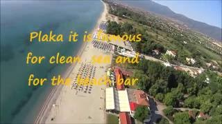 Plaka (Pieria) Greece  city photo : Flying above on the beach Plaka-Pieria-Greece