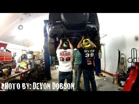 Metal Mulisha Exhaust Time Lapse Install Hummer H3