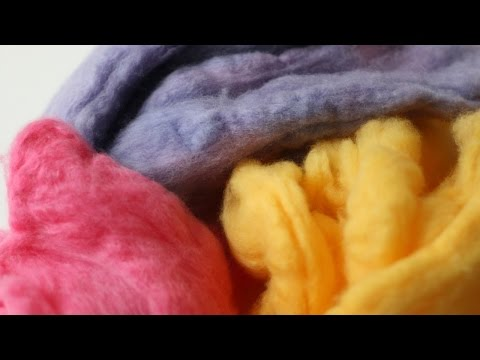 How To Dye Wool Fleece for Felting - DIY Crafts Tutorial - Guidecentral