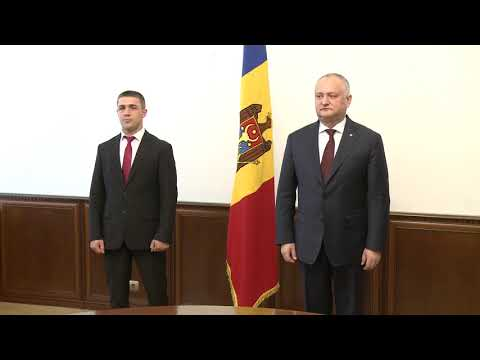 Sportivul Veaceslav Plămădeală a primit Diploma de Onoare a Președintelui