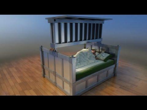 il letto che ci salverà dai terremoti, un vero e proprio bunker.