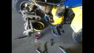 2. How to change transmission oil in an lt80 / automatic atv