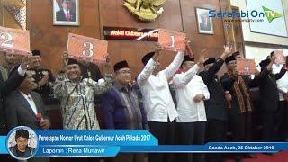 Penetapan Nomor Urut Calon Gubernur Aceh Pilkada 2017