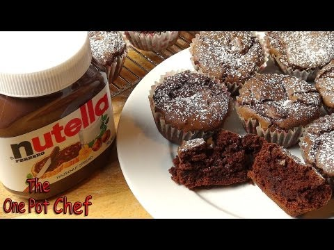 3 Ingredient Nutella Brownie Cupcakes | One Pot Chef