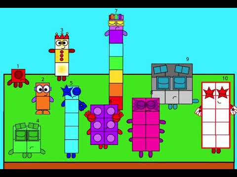 Number blocks Band Cuter BUT NOW LONGER AND 1-10!!! (PS cleaner looks)