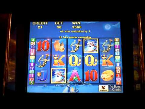Arabian Nights slot machine bonus win at Parx Casino