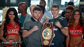 Canelo Alvarez vs. Liam Smith Press Conference & Face Off