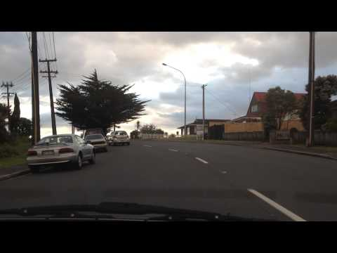Driving in Glenfield, Auckland (видео)