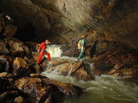 Caving. Sistema Cueva de Hundidero - Cueva del Gato, Sifón del Embudo
