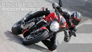 10. 2016 Ducati Monster 1200 R First Ride Review - MotoUSA