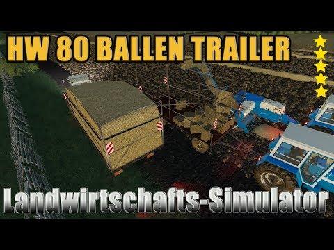 HW 80 Bale Trailer v1.0.0.0