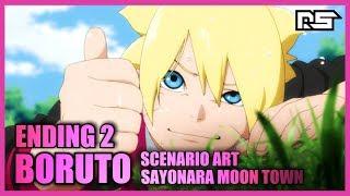 Boruto Naruto Next Generations | ENDING 2 | SCENARIO ART - SAYONARA MOON TOWN | NIGHTCORE