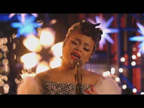 "Andra Day Fantastic Voice with holiday classic ""WINTER WONDERLAND"""