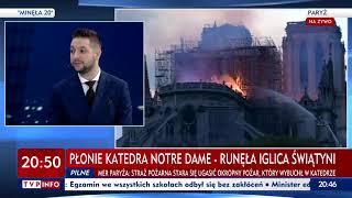 W TVP Info przeszli samych siebie. Płonie Notre Dame, a na wizji wałkowali…temat nauczycieli.