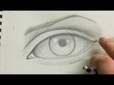 How To Draw The Realistic Eye - Full Tutorial