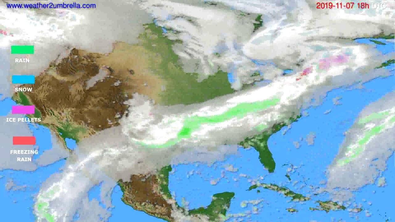 Precipitation forecast USA & Canada // modelrun: 12h UTC 2019-11-05