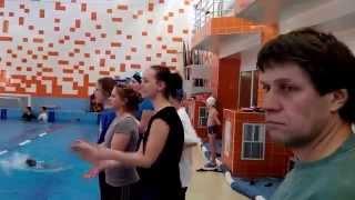 Соревнования по прикладному плаванию 2014 (видео №6)