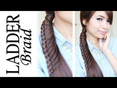 Ladder Braid Ponytail Hairstyle for Medium Long Hair Tutorial – Bebexo