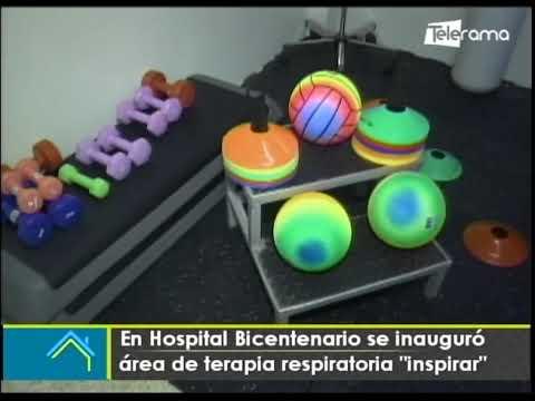 En hospital Bicentenario se inauguró área de terapia respiratoria Inspirar