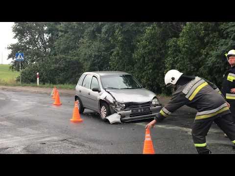 Wideo: Kolizja dwóch pojazdów w Rudnej