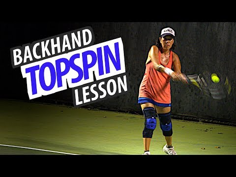 How to Improve Your Topspin Backhand (tennis lesson) - Part 2 of 2