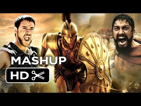 Clash of the 300 Gladiators of Troy - Movie Mashup HD