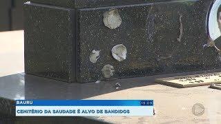 Bauru: bandidos furtam pelo menos 350 peças de bronze de cemitério em três meses