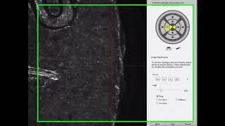 Adquiriendo la marca del eyector fuera del campo de visión con IBIS TRAX-HD3D BRASSTRAX