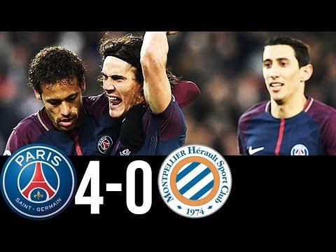 PSG vs Montpellier 4-0|All Goals & Highlights |27/01/2018|HD