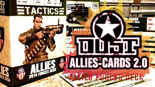 Dust Tactics Allies - 2014 Forces Deck (Cards 2.0 for Tactics & Battlefield) [ESPAÑOL]