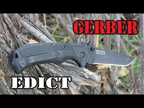 Gerber Edict Knife Review: Big & Cheap (видео)