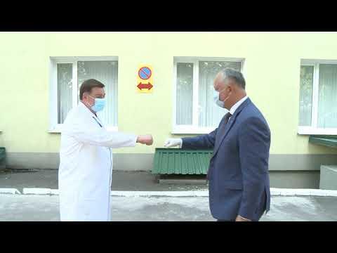 Игорь Додон посетил районную больницу в Хынчешть