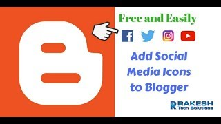 How to add social media icons to Blogspot