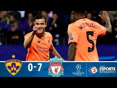 Melhores Momentos - Maribor 0 x 7 Liverpool - Champions League (17/10/2017)
