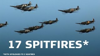 Duxford United Kingdom  city images : 17 Spitfires Duxford Battle of Britain Air Show 2015