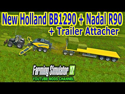 New Holland BB1290 + Nadal R90 + Trailer attacher v1.0