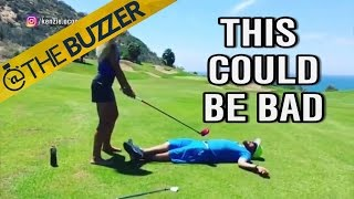This golf swing requires a lot of trust by @The Buzzer